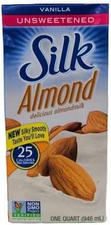 Bebida Silk Almendras Vainilla sin Azucar 946ml