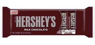 Chocolatina Hersheys Milk Chocolate x8 102g