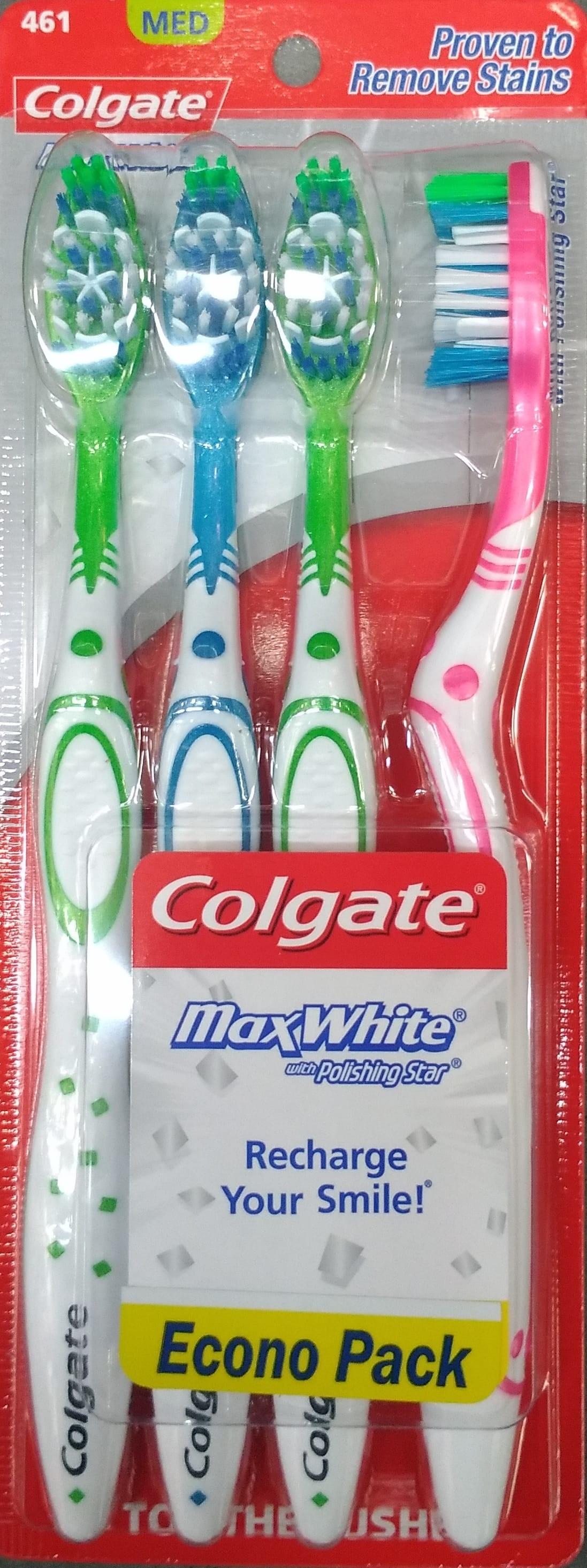 Cepillo Dental Colgate max White x4