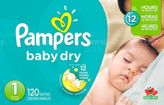 Pañal Pampers Baby dry Et1x120