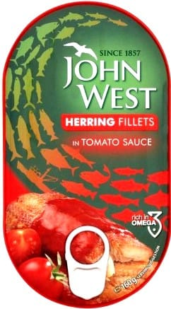 Arenque Johnwest Tomate 160g