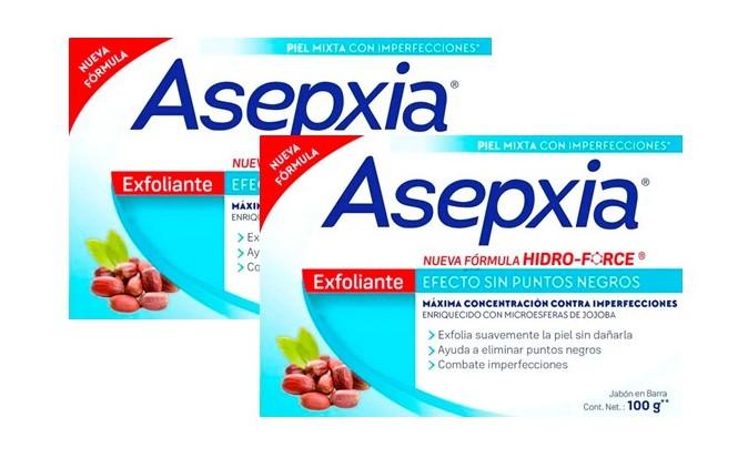Jabón Asepxia Exfoliante 100gx2