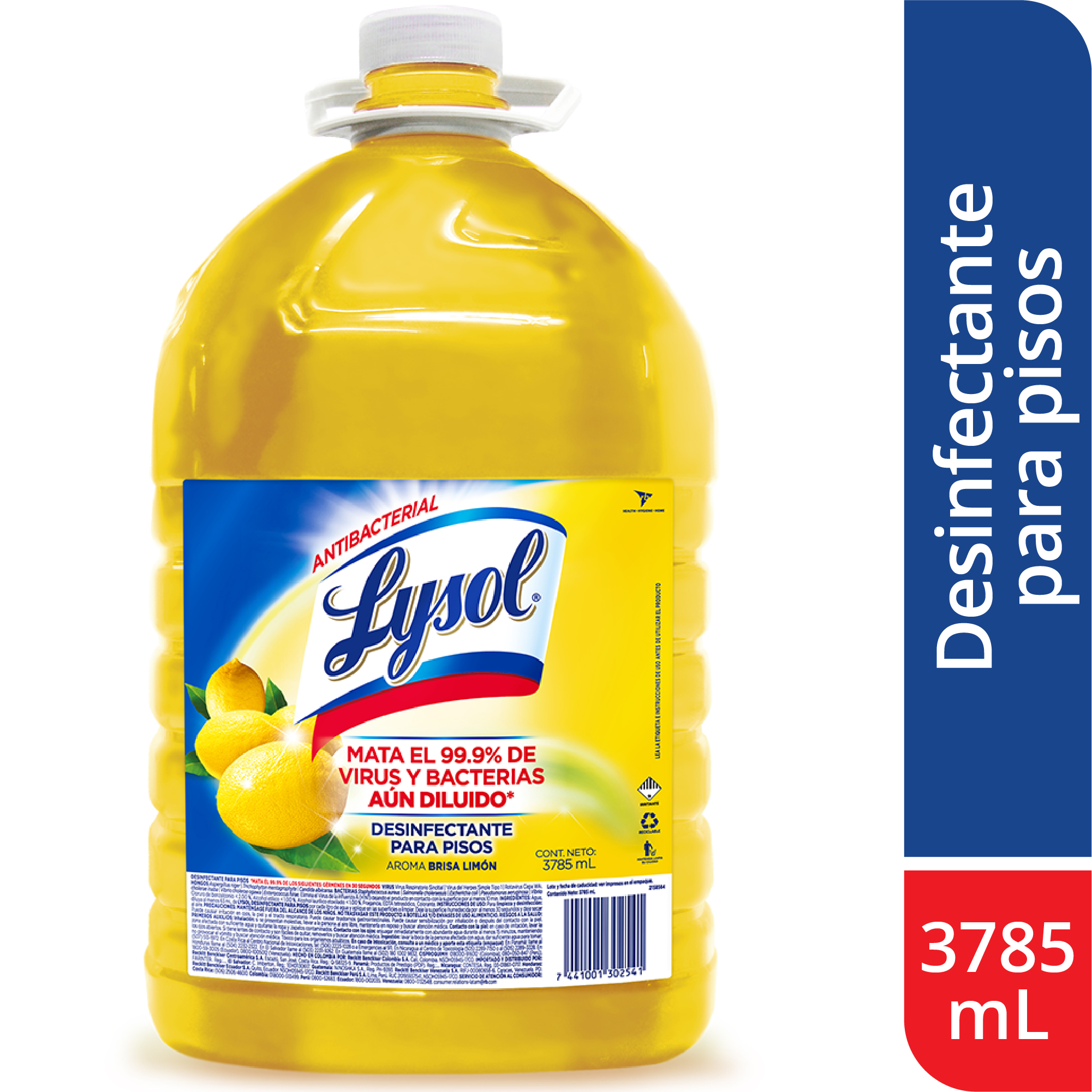 Desinfectante Para Pisos Lysol Citrus 3785ml