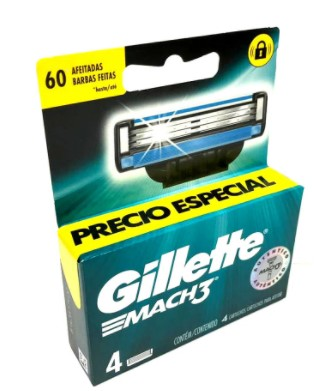 Repuesto Mach3 Gillette x 4