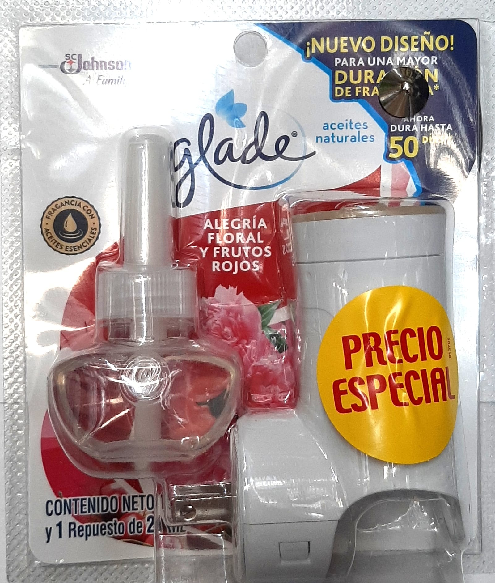 Ambientador Electrico Glade Frutos Rojos 21ml Apar