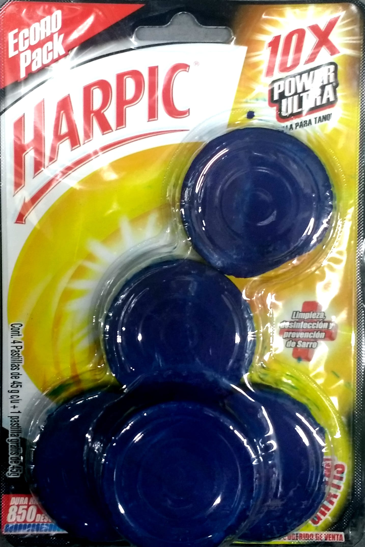 Limpiador Baño Harpic Azul Pastillas P4l5