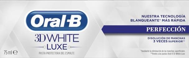 Crema Dental Oral b 3d White Perfección 75ml