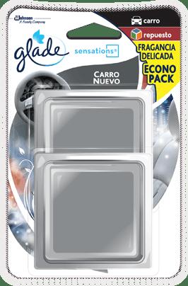 Ambientador gel Repuesto Glade Sensations Carro 8gx2