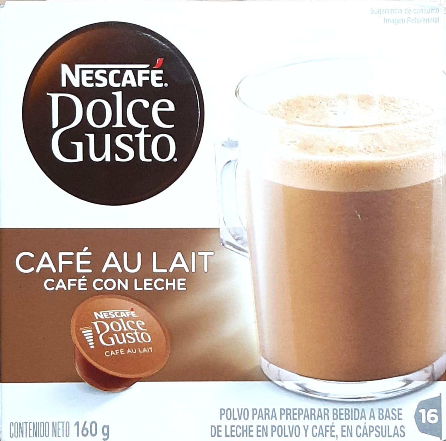 Capsulas Nescafe Café con Leche 160g