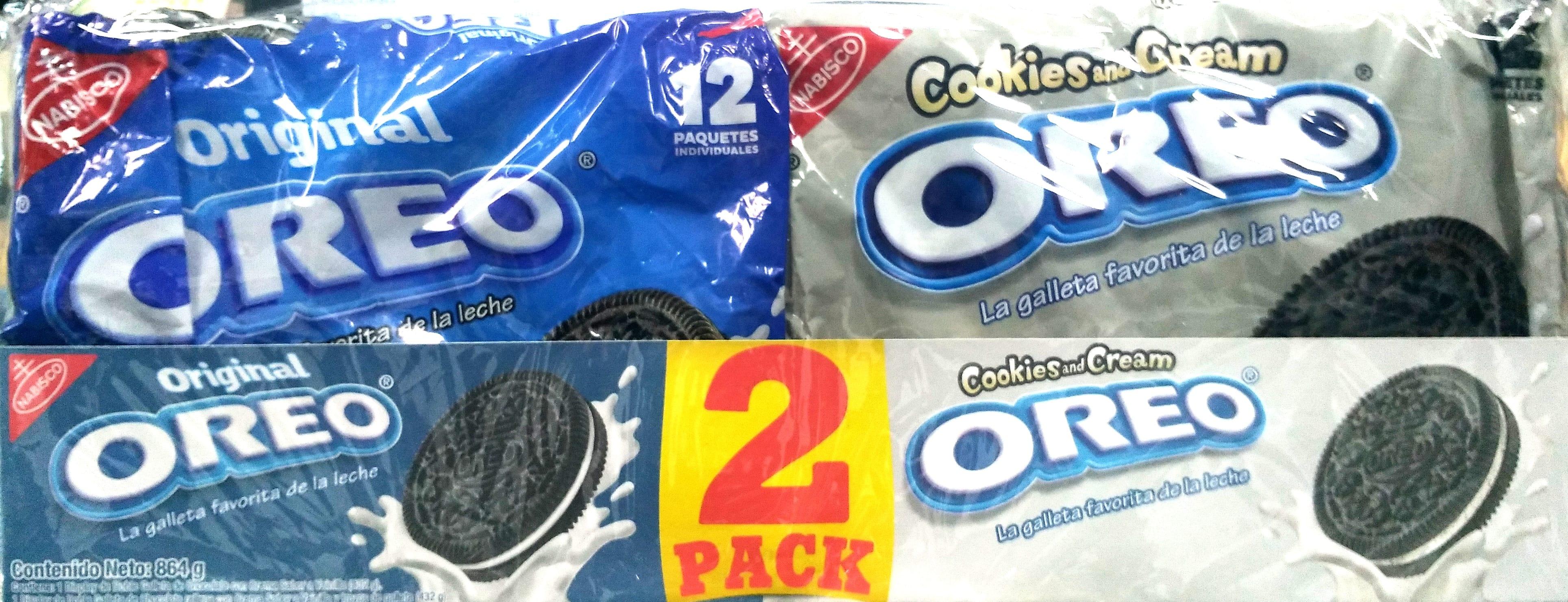 Galletas Oreo Original Cookies and Cream X24u 864g