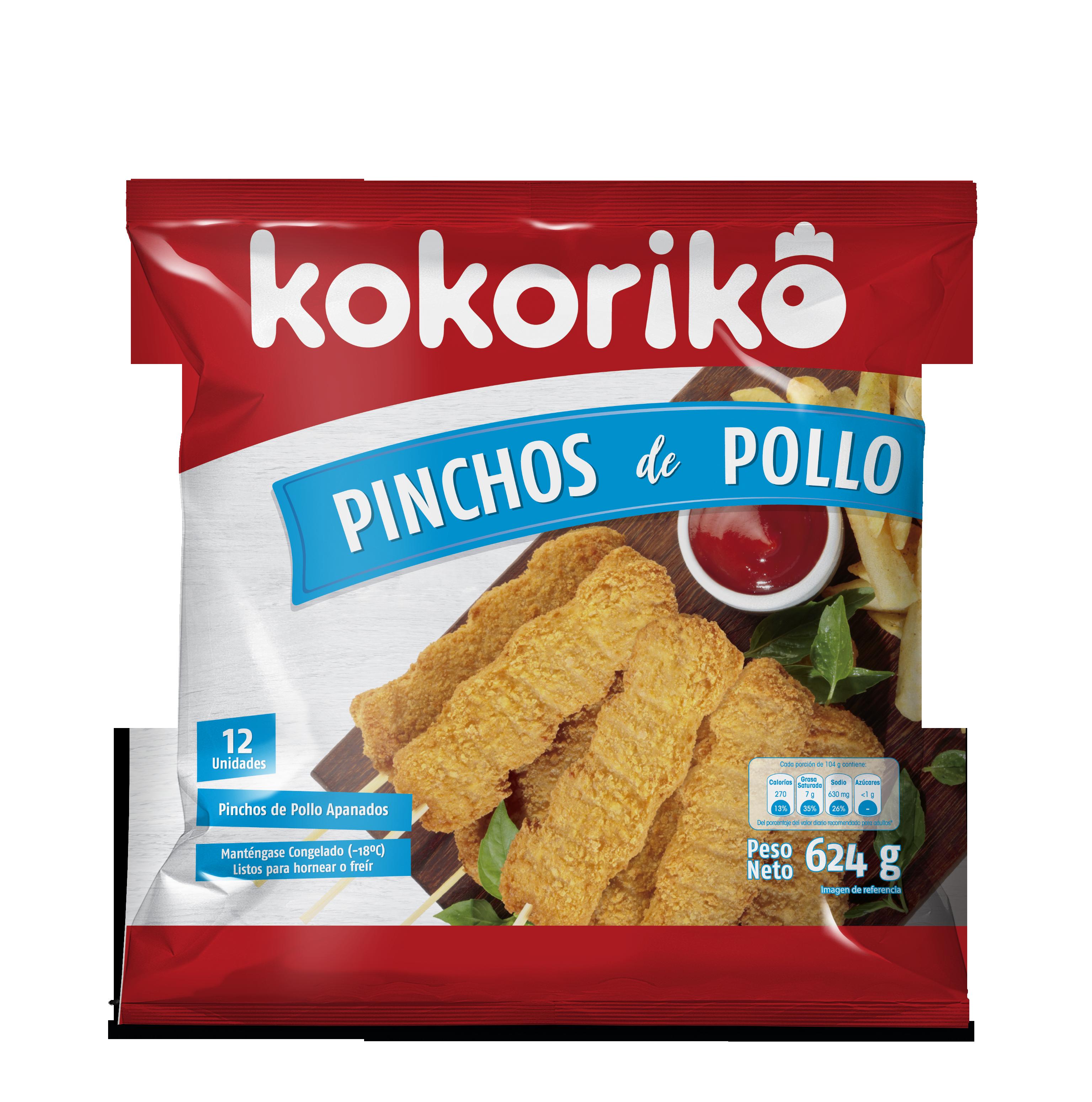 Pinchos Pollo Kokoriko 12u 624g