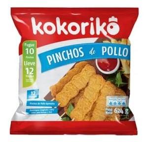 Pinchos Kokoriko 624g p10 l12