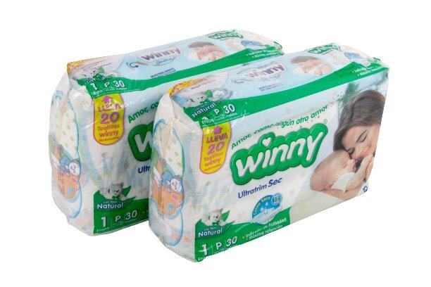 Pañal Winny sec p x60 Toallitas Humedas