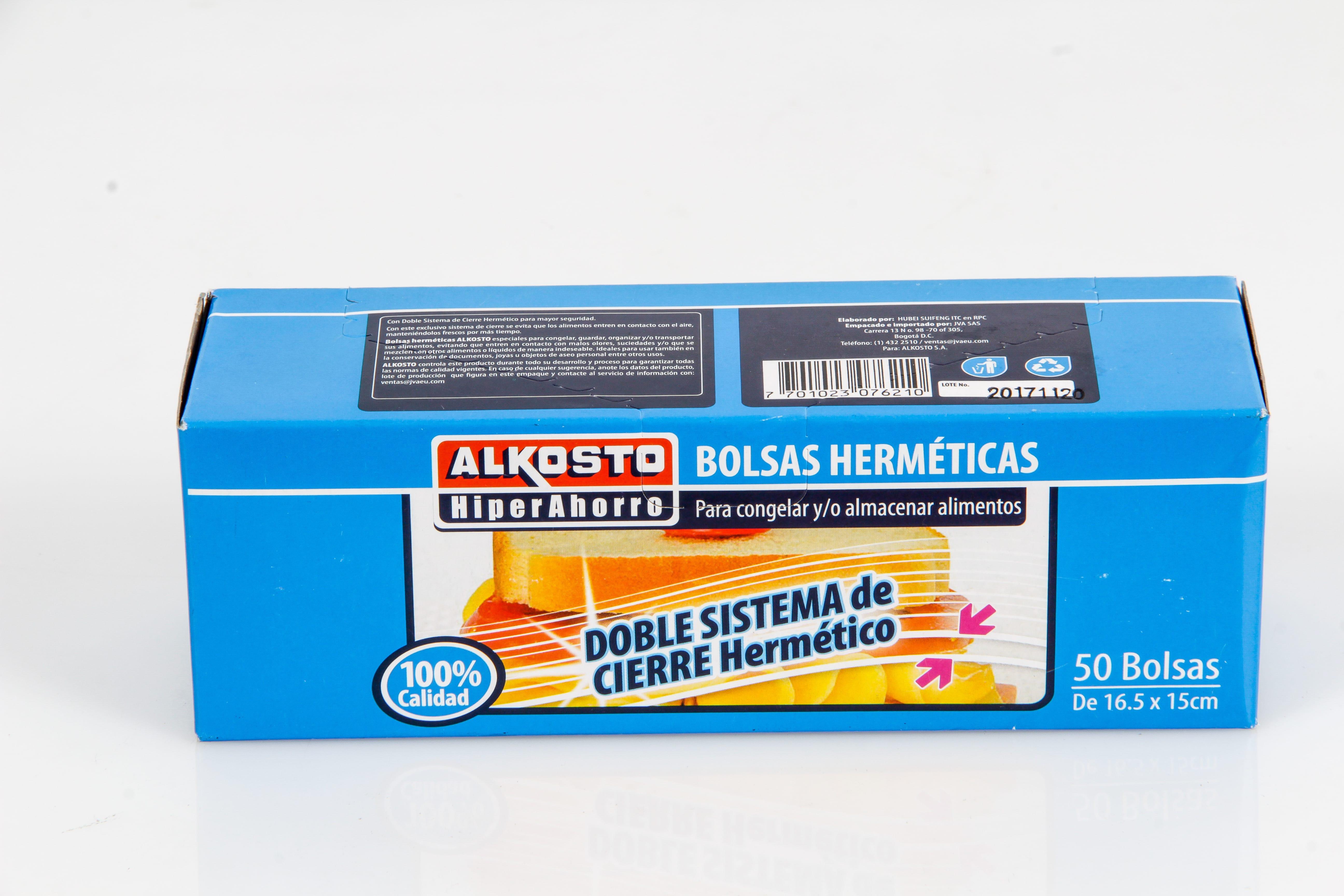Bolsas Herméticas Alkosto 16 5x15cm X50u