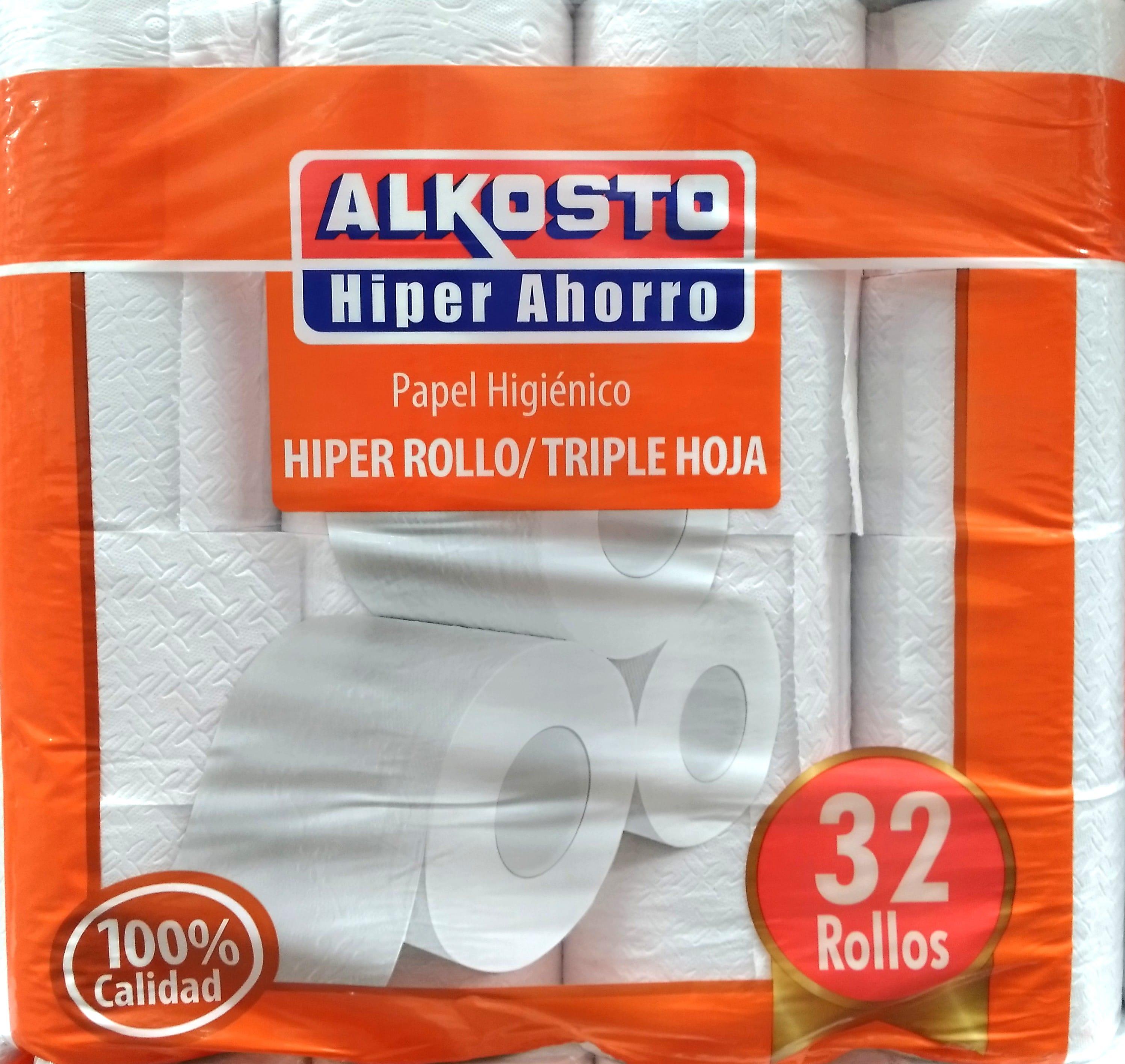 Papel Higienico Alkosto Triple Hoja x 32 Rollos