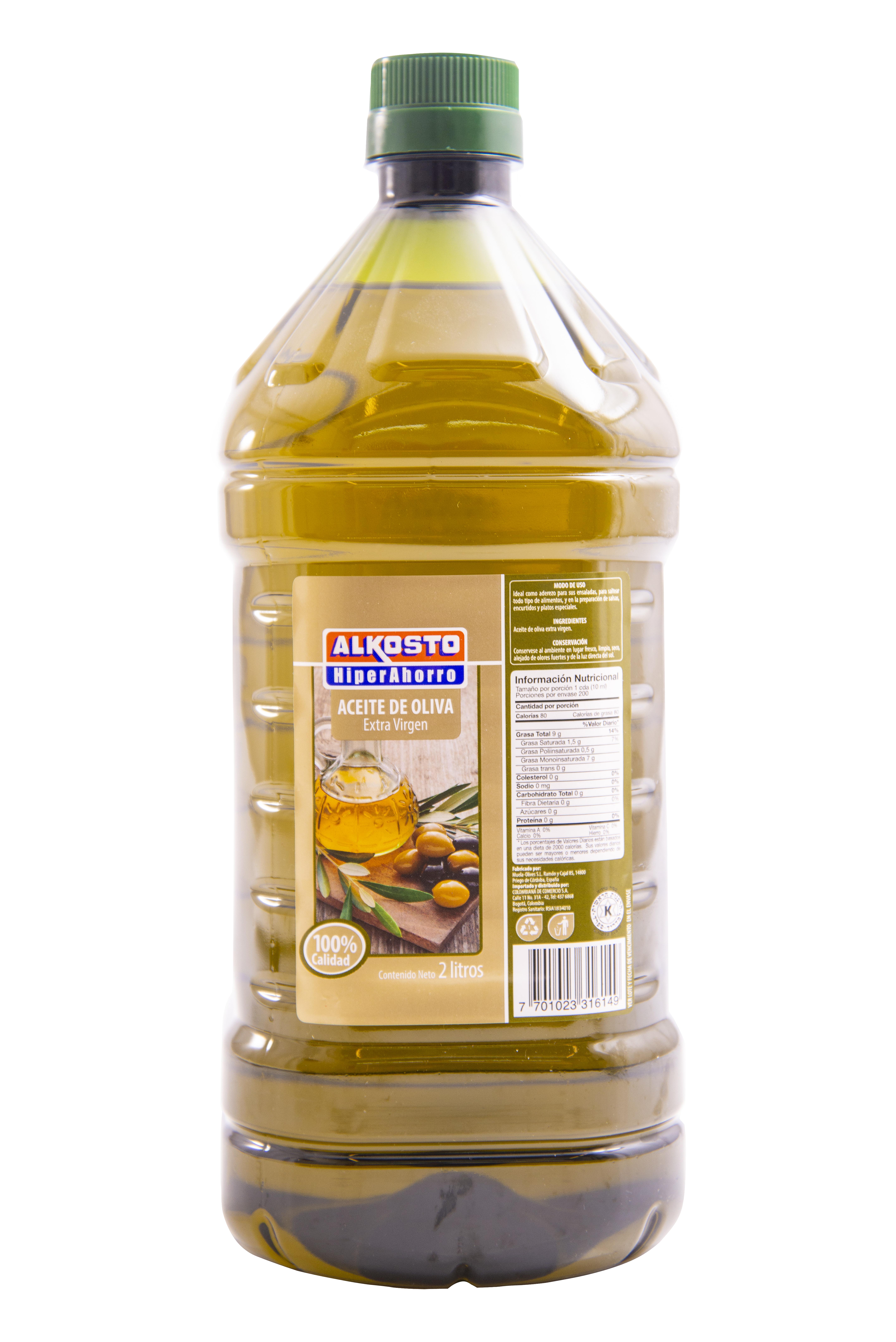 Aceite Oliva Extra Virgen Alkosto 2l