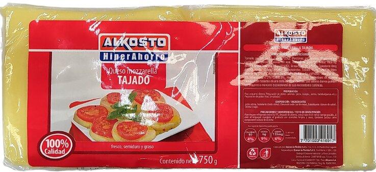 Queso Alkosto Mozzarella Tajado 750g