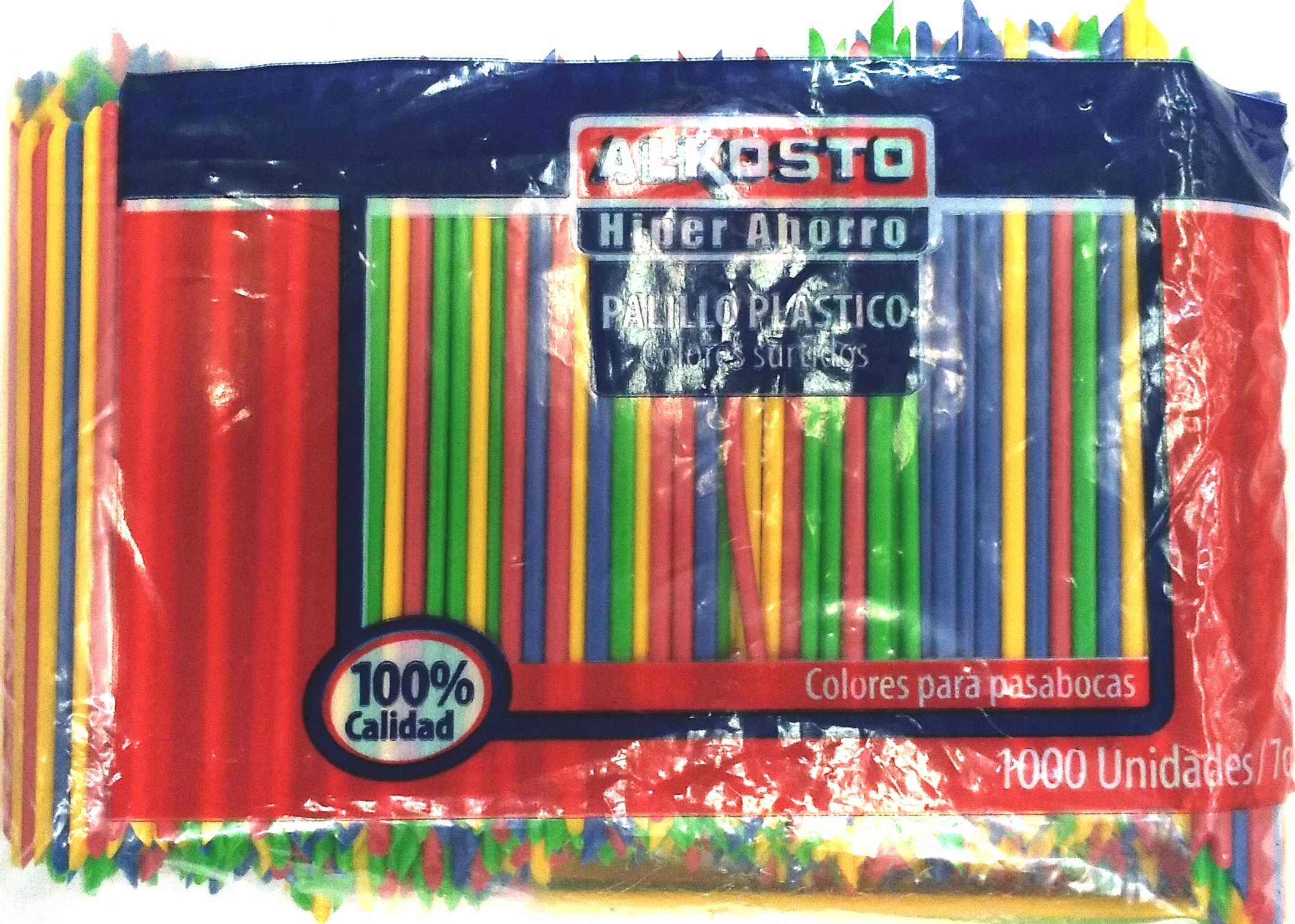 Palillo Plástico Color Alkosto 1000u