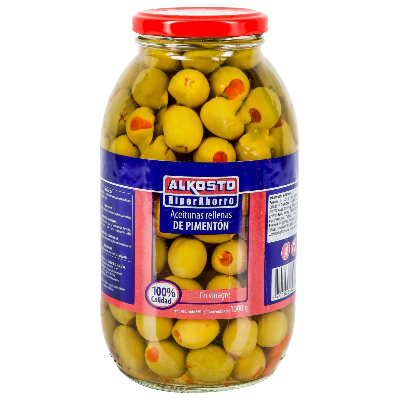 Aceitunas Rellenas de Pimentón alk 1000g