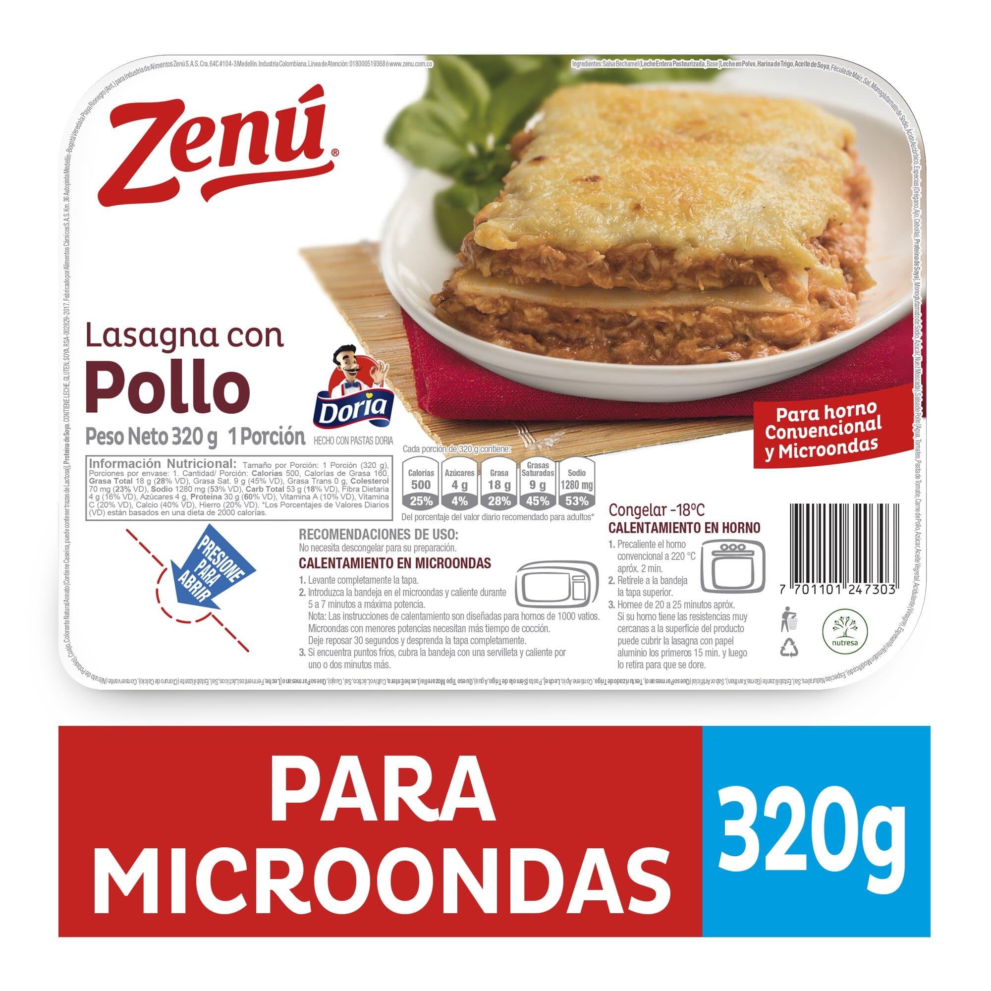 Lasagna Zenu Pollo 320g