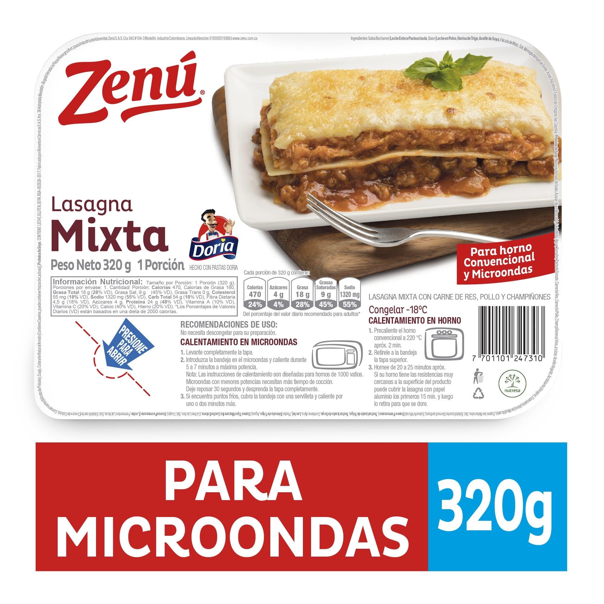 Lasagna Zenu Mixta 320g