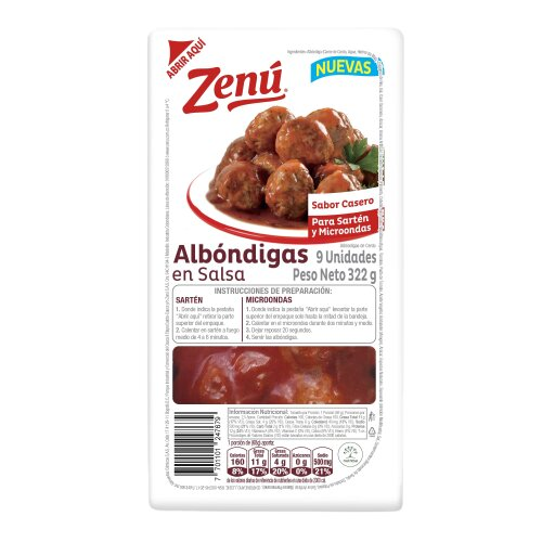 Albondigas en Salsa Zenú 322g