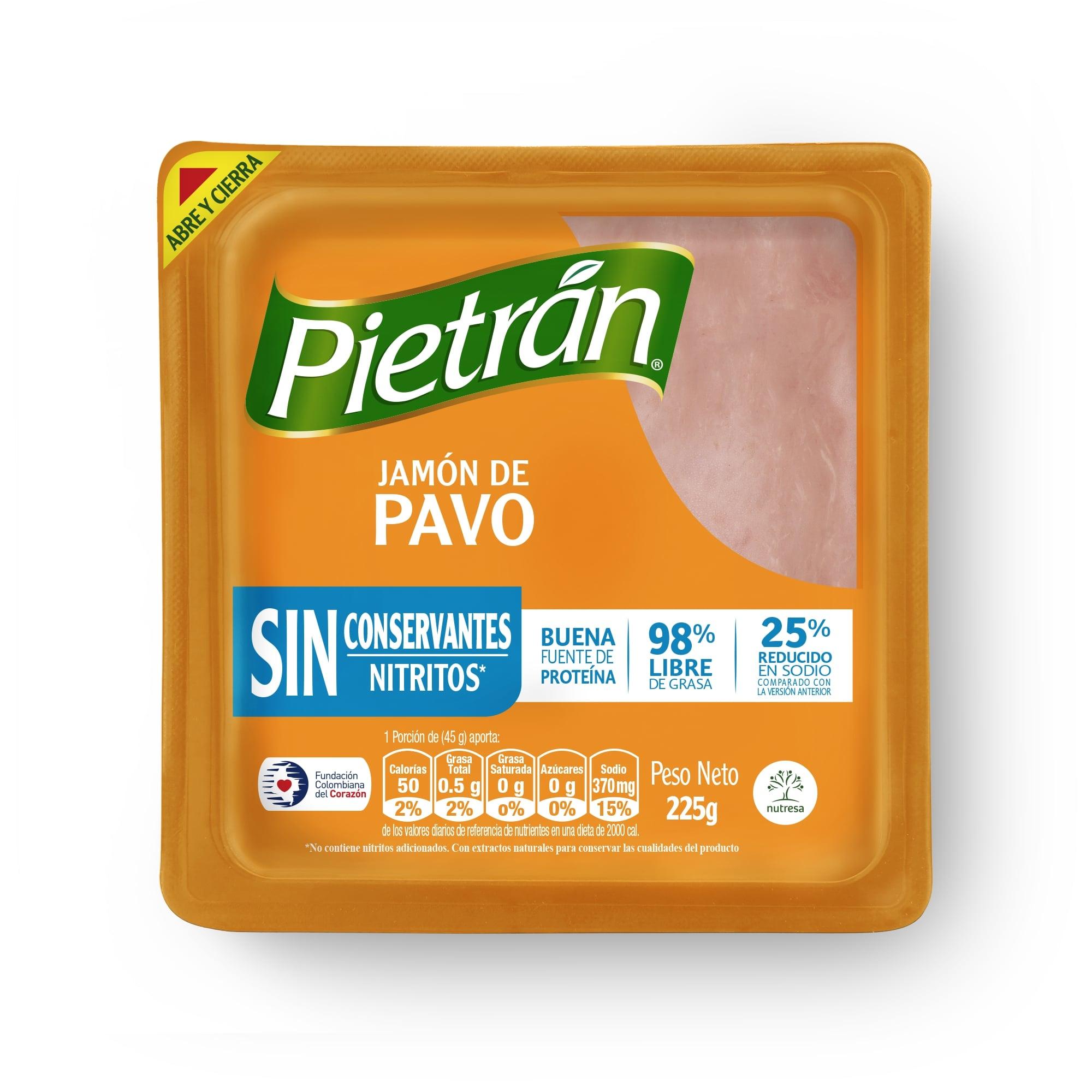 Jamón de Pavo Pietrán sin Conservantes 225g