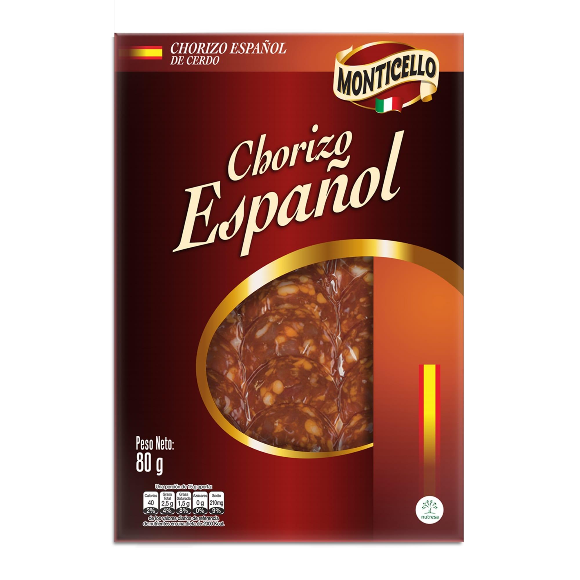 Chorizo Español Monticello x 80g