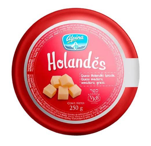 Queso Holandes Alpina 250g