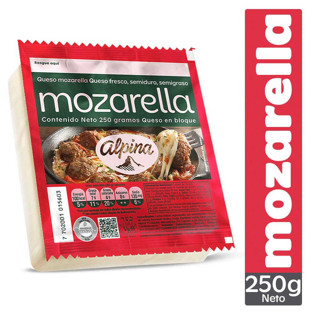 Queso Alpina Mozarella Bloque 250g