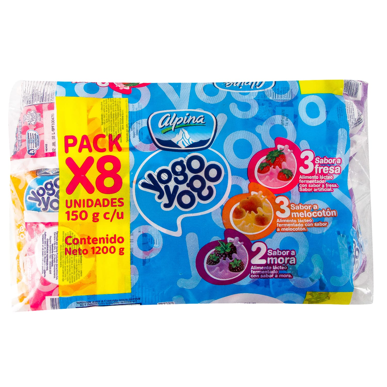 Bebida Lactea Yogo Yogo Bolsa Surtido 150g x 8 und