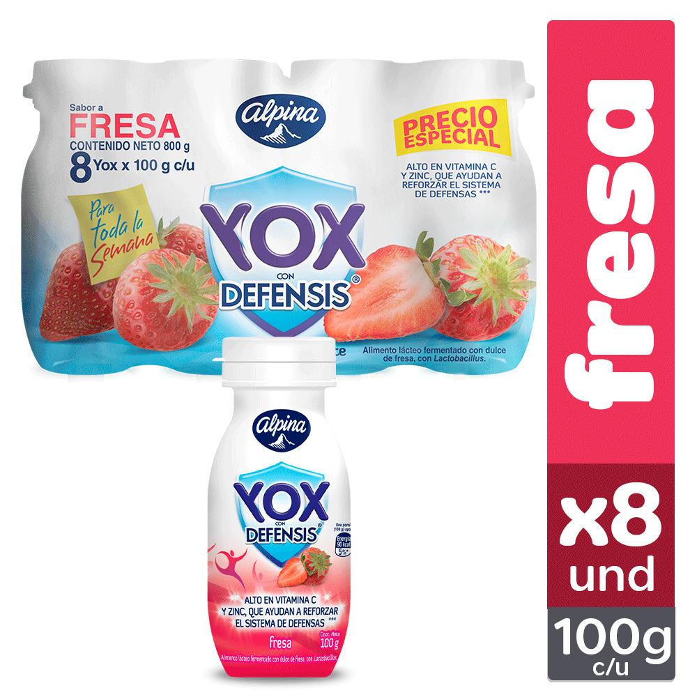 Bebida yox Fresa 100g x 8