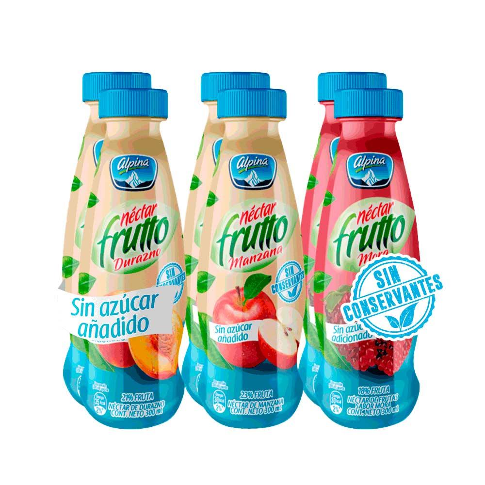 Nectar Frutto sin Azucar Botella 300ml x6u