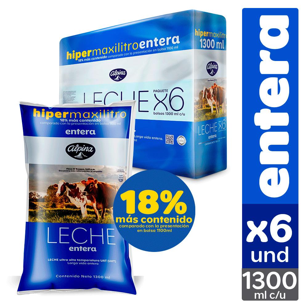 Leche Alpina Entera Bolsa 1 3l x6u