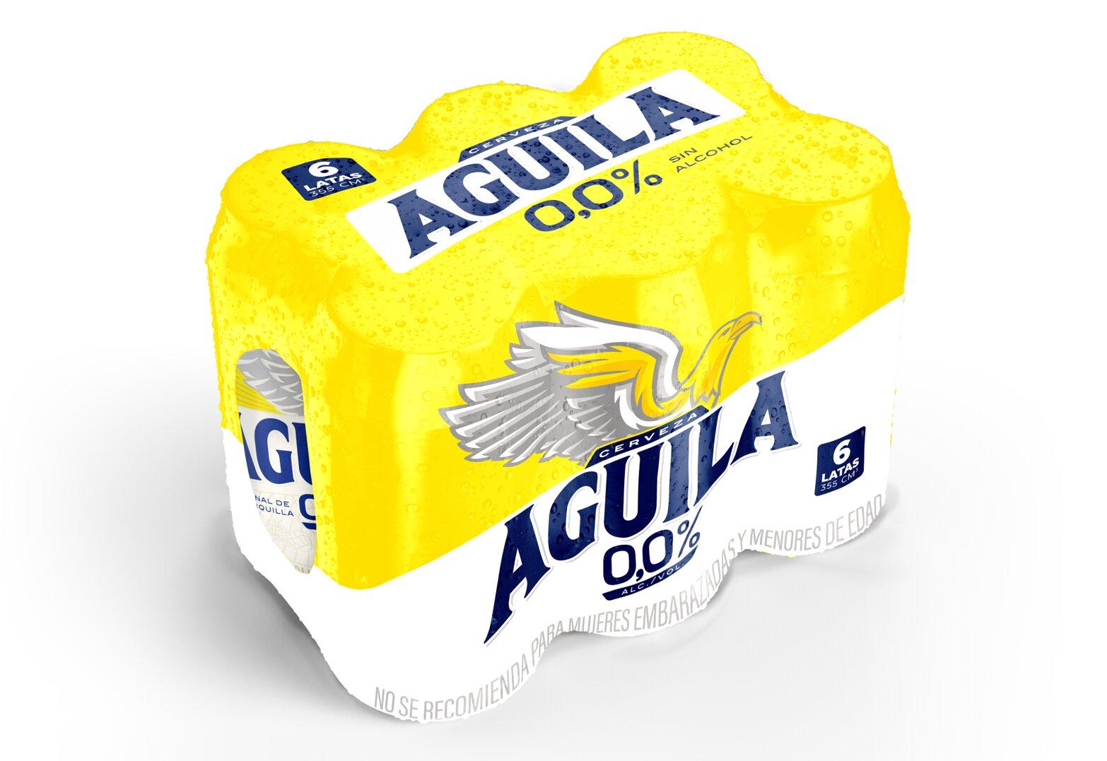 Cerveza Aguila 0 0 Lata 355ml x6u