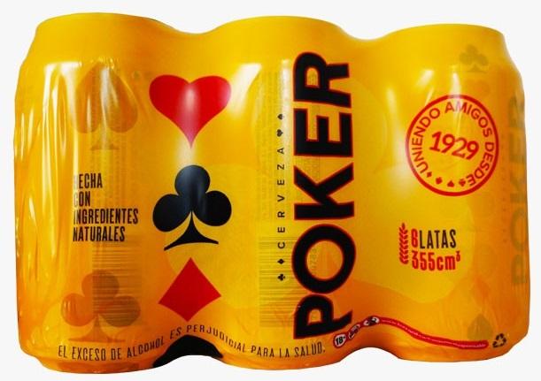 Cerveza Poker Lata 355ml x6u