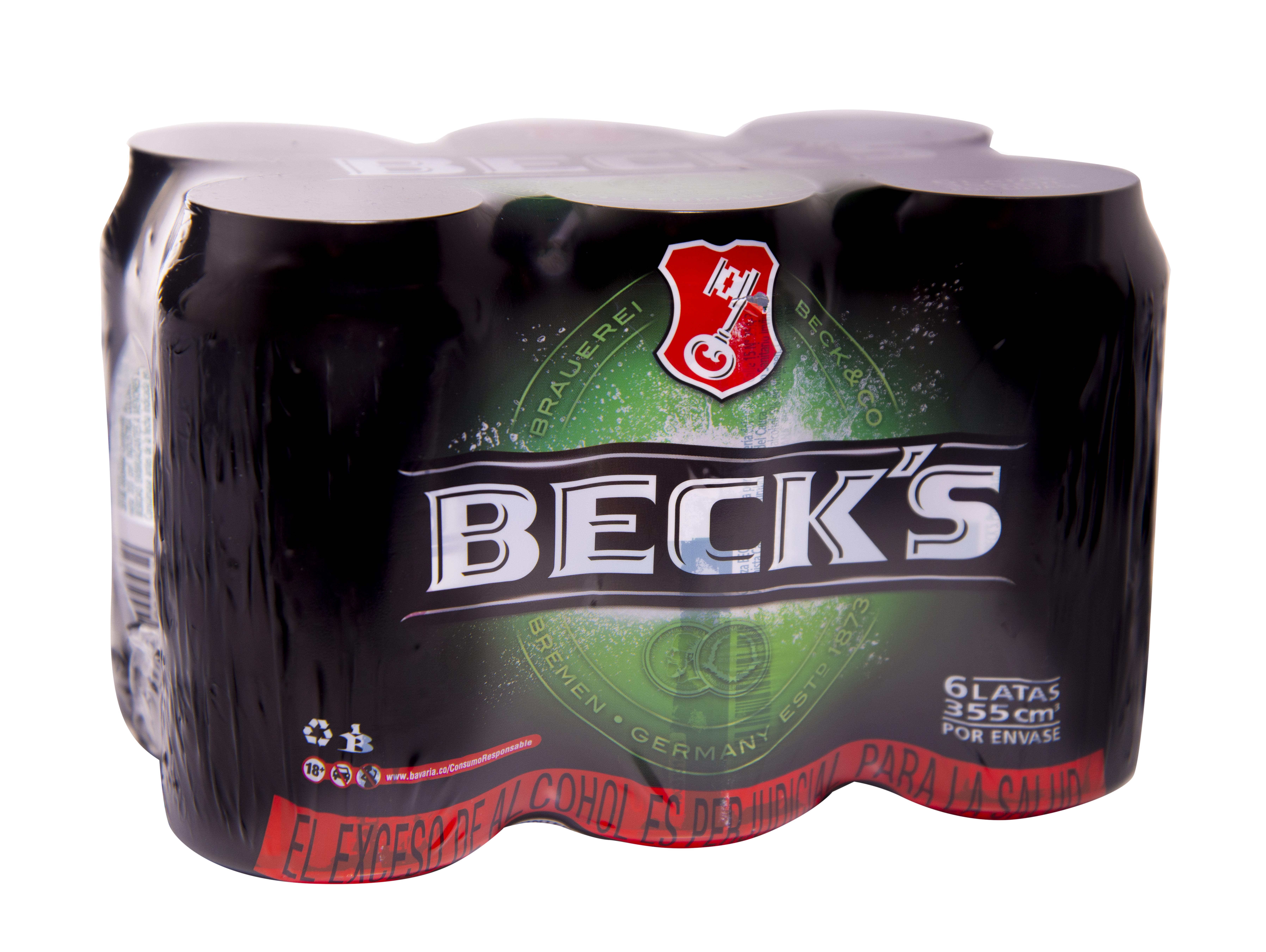 Cerveza Becks Lata 355ml x6