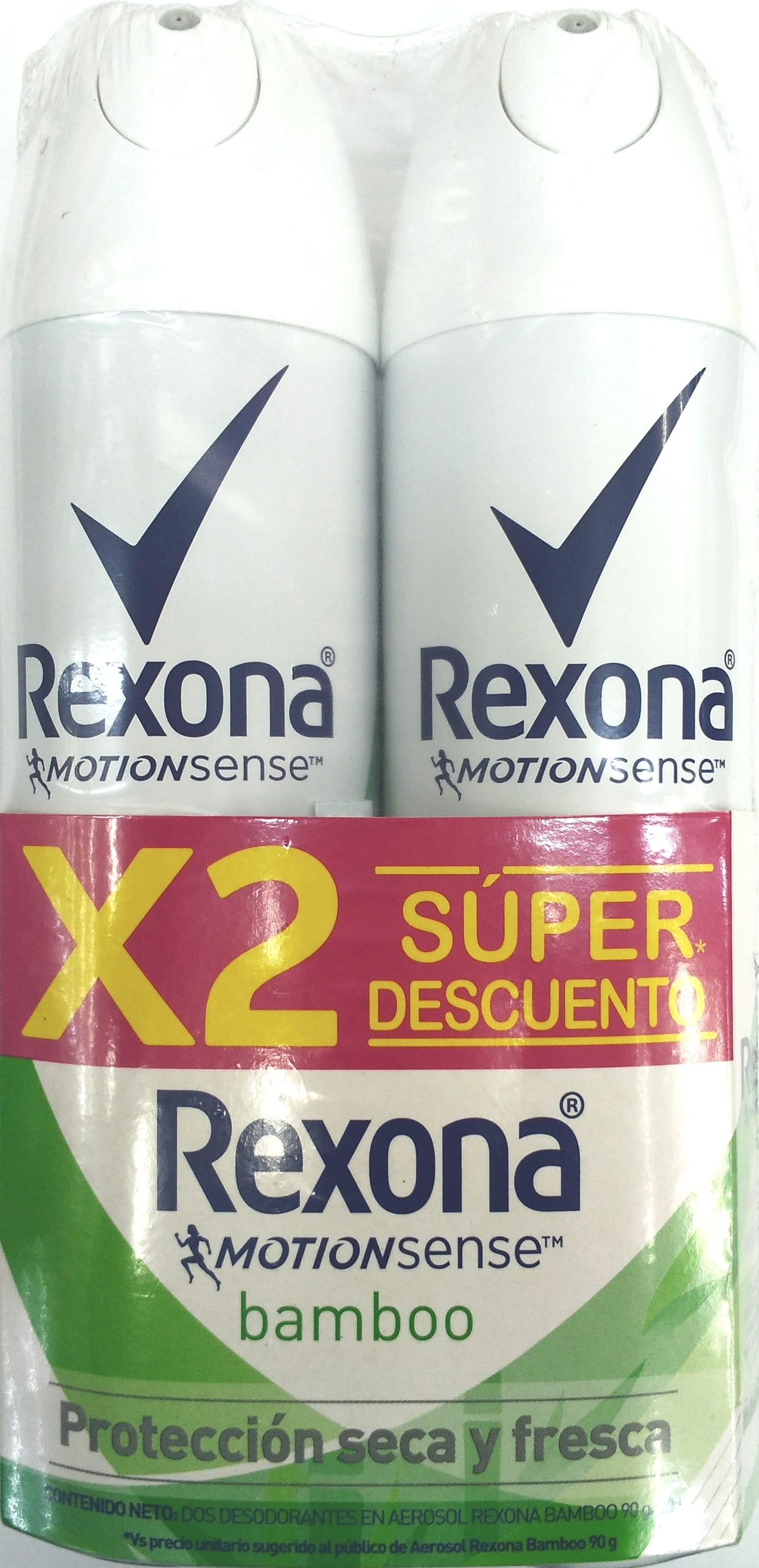 Desodorante Aerosol Rexona Bambo Women 150mlx2