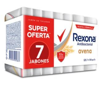 Jabón Tocador Rexona Antibacterial Avena 120g x 7