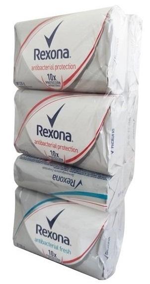 Jabón Tocador Rexona Antibacterial Surtido 120gx12