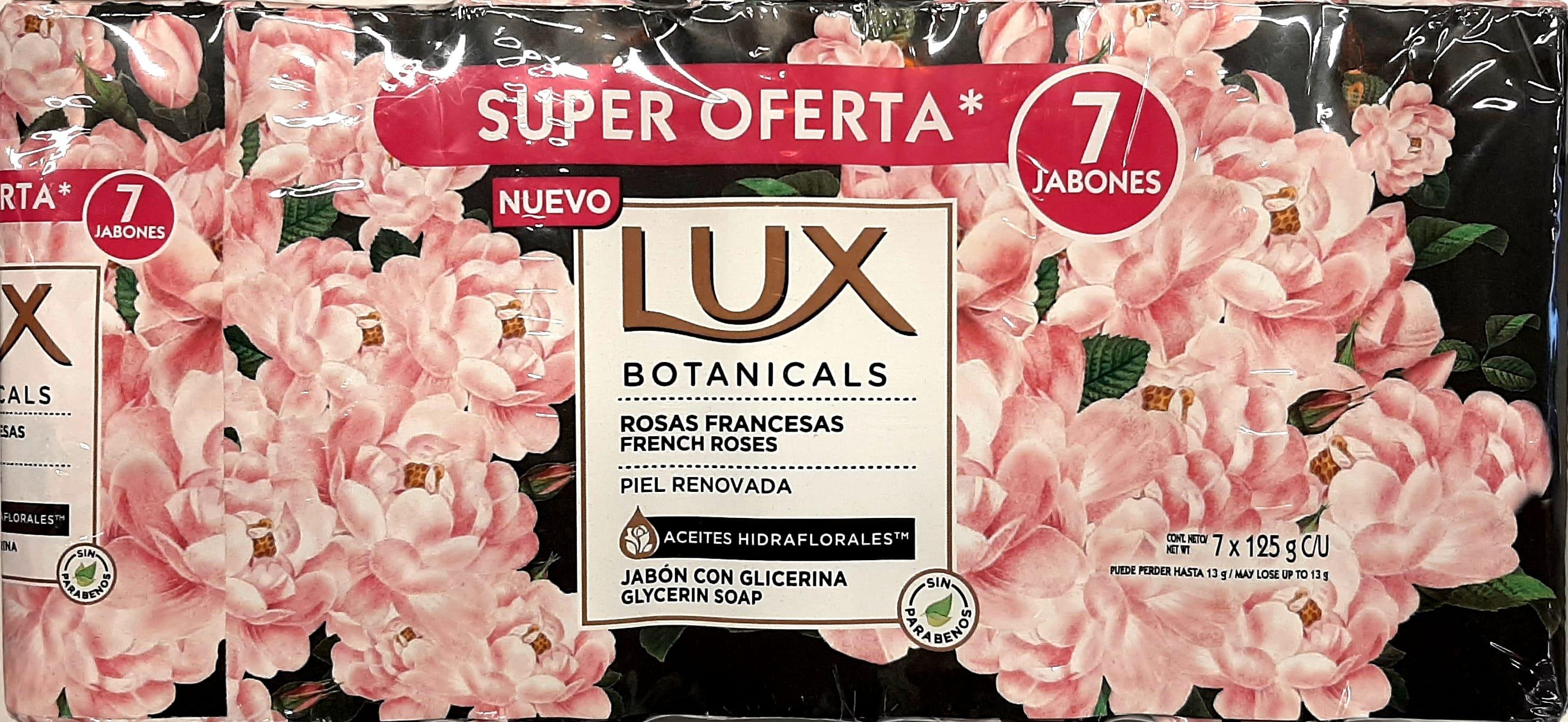 Jabón Tocador lux Rosas Francesas 125gx7