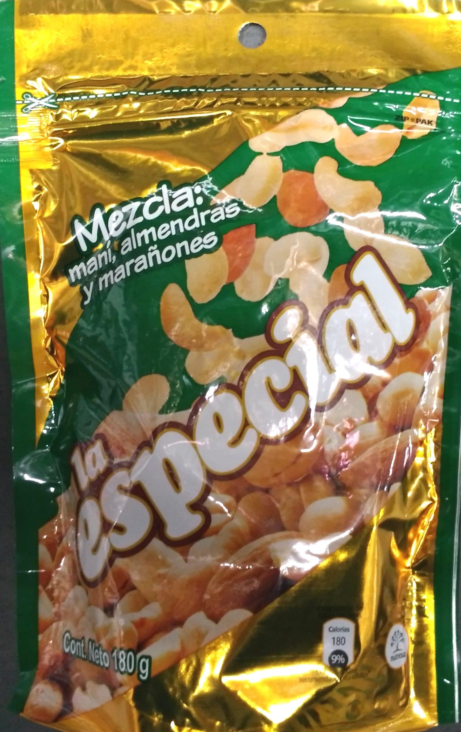 Mani la Especial Mezcla Mani Almendras y Marañones 180g