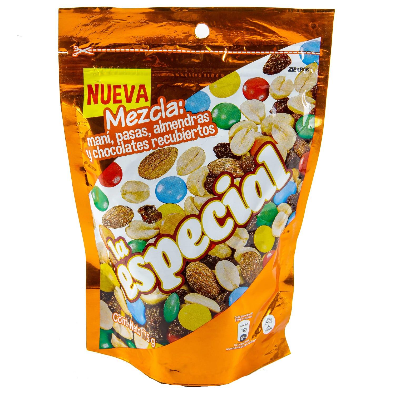 Mani la Especial Mezcla Mani Pasas Almendras y Chocolates Recubiertos 175g pp