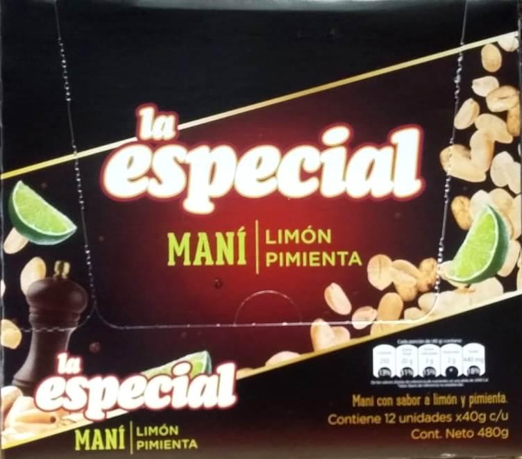 Mani la Especial Limon y Pimienta X12u 480g