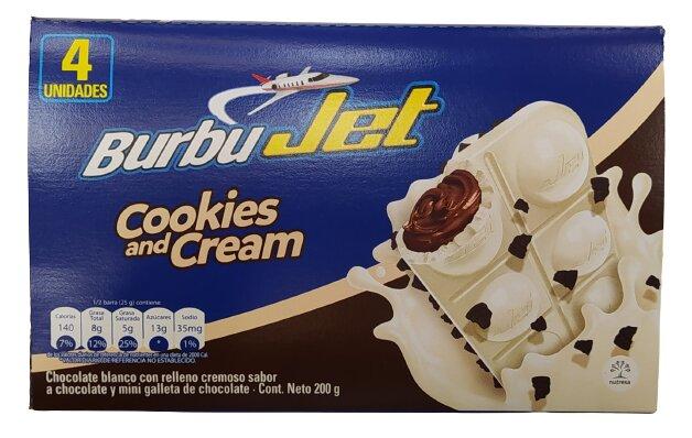 Chocolatina Burbujet Cookies and Cream 50g x4u