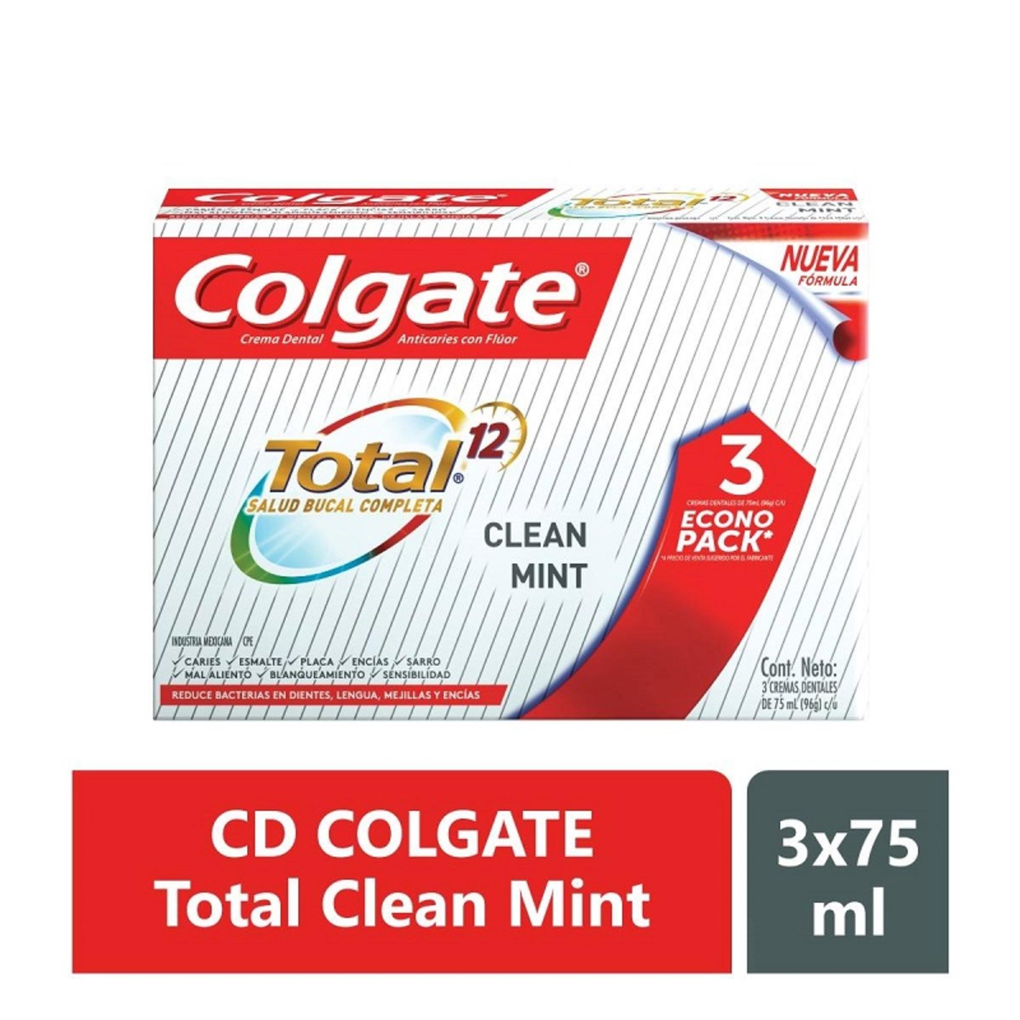 Crema Dental Colgate Total Clean Mint 75mlx3