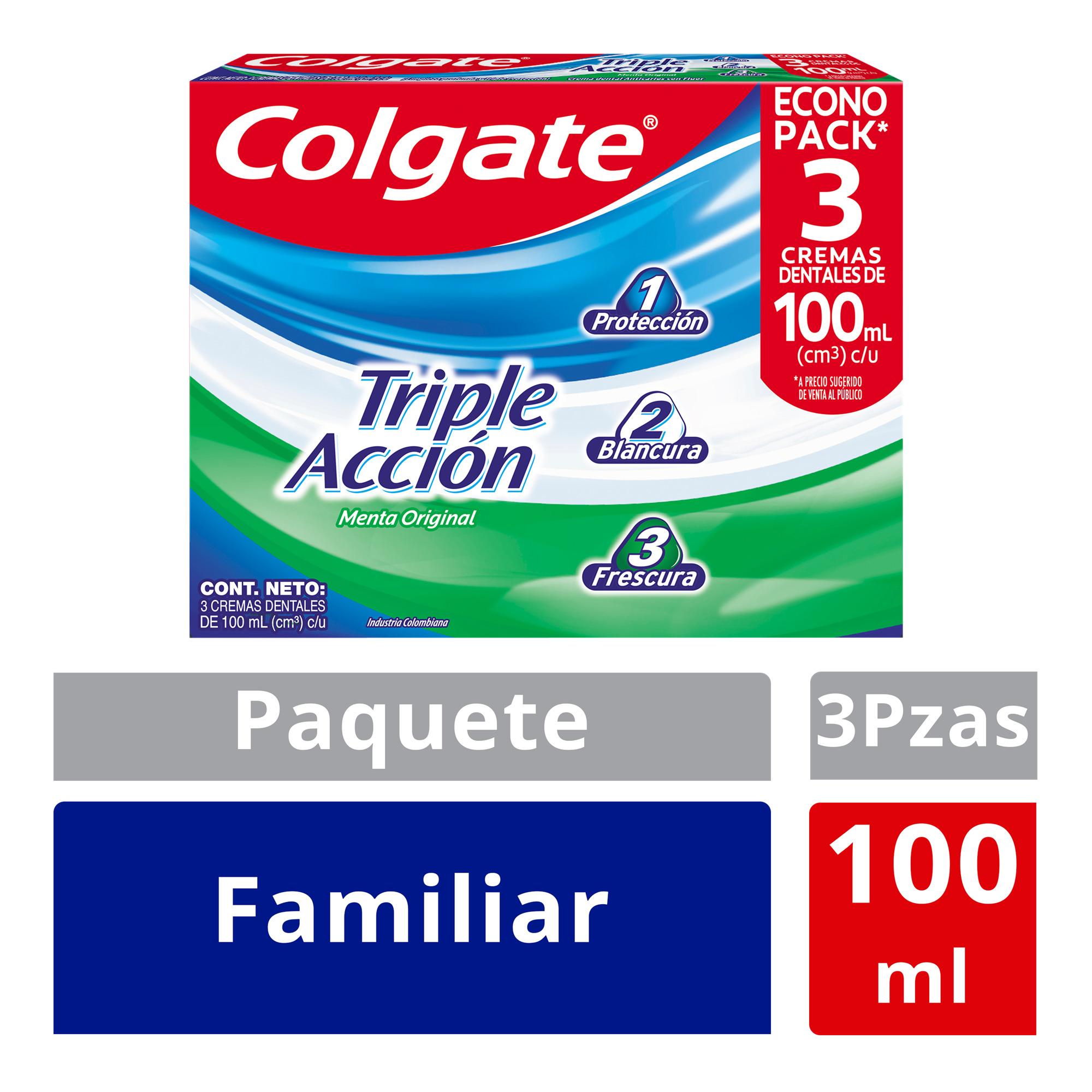 Crema Dental Colgate Triple Acción 100ml x3