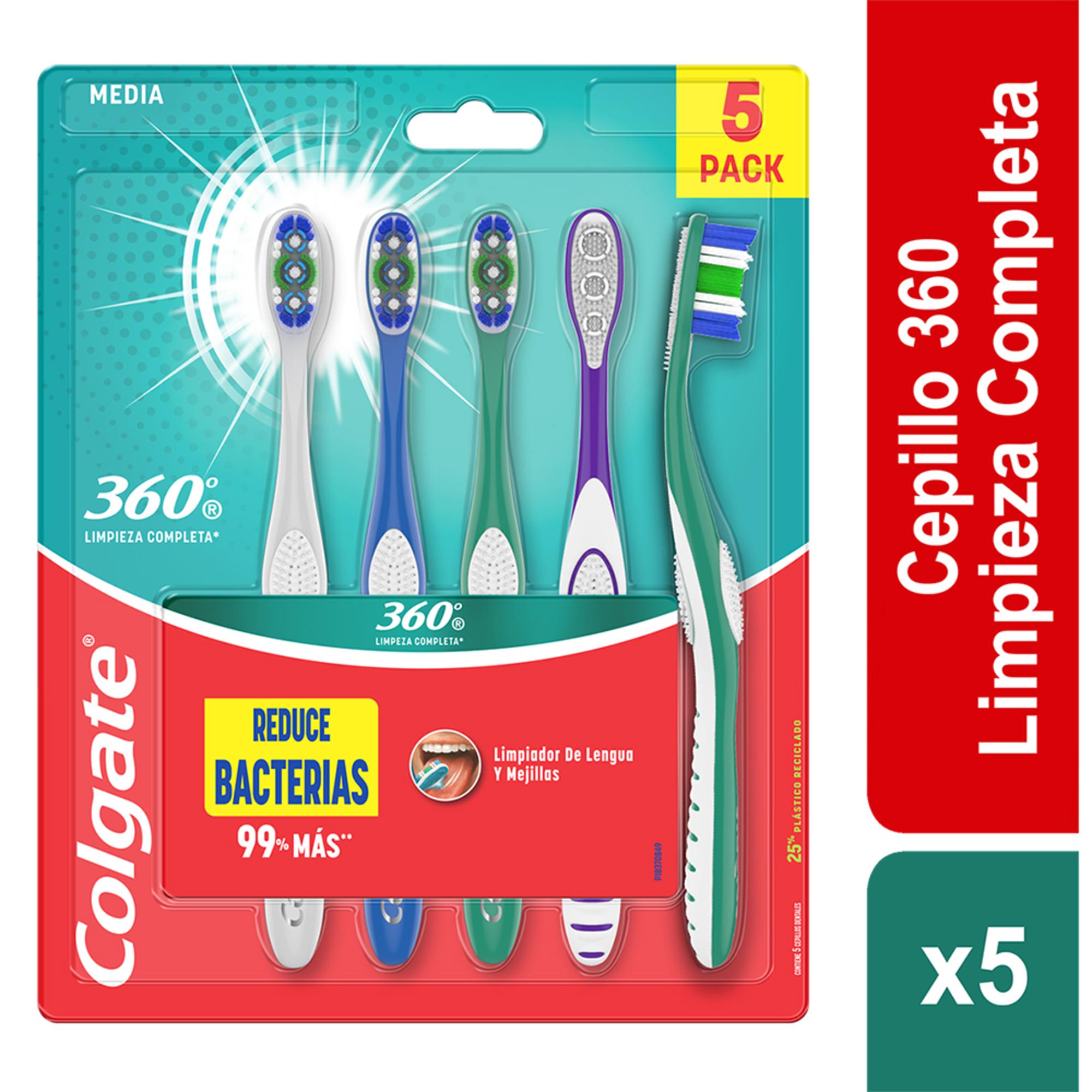 Cepillo Dental Colgate Base 360 x 5