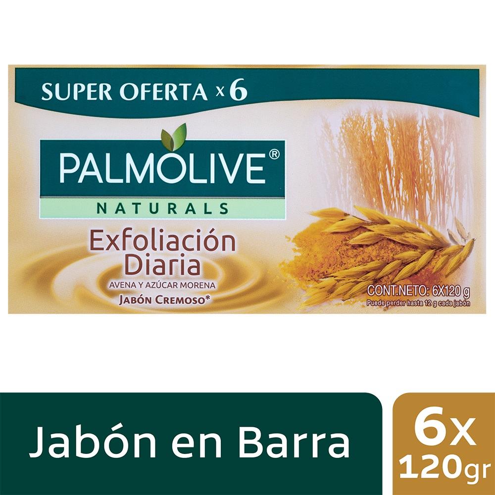 Jabón en Barra Palmolive Exfoliación Diaria 120gx6u