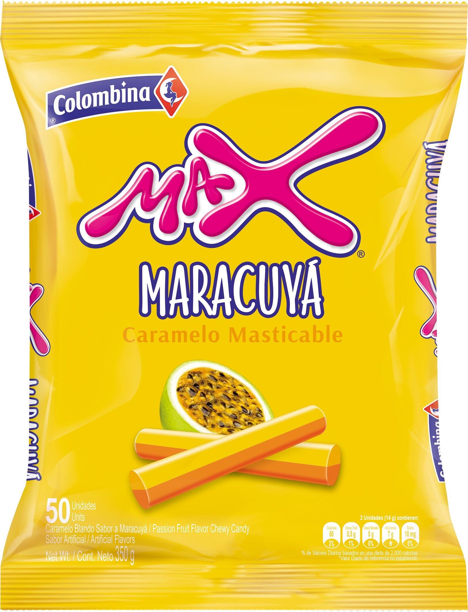 Caramelo max Maracuya X50u 350g